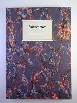 Skizzenbuch Marmor Lila