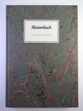 Skizzenbuch Marmor Dunkelgrün