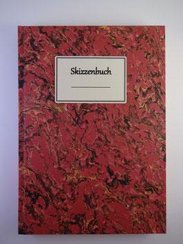 Skizzenbuch Marmor Hellrot