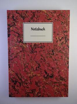 Notizbuch Marmor Hellrot