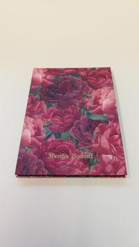 Leporello mit roten Blumen