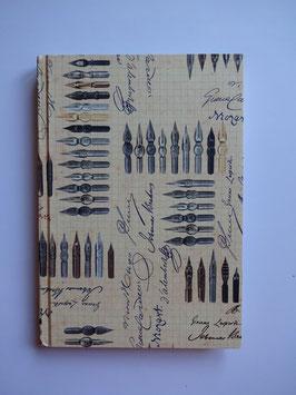 Schreibfeder Motiv Notizbuch