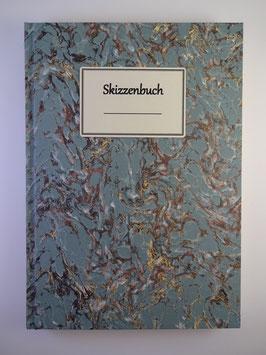 Skizzenbuch Marmor Hellblau