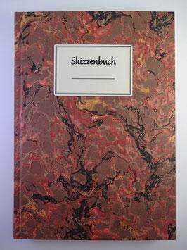 Skizzenbuch Marmor Rotbraun