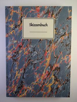 Skizzenbuch Marmor Blau