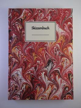 Skizzenbuch Marmor Rot 2
