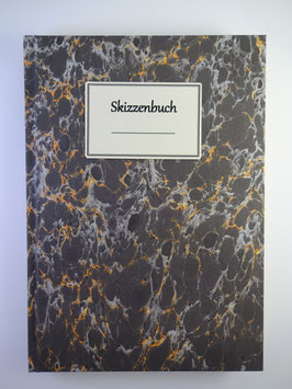 Skizzenbuch Marmor Schwarz