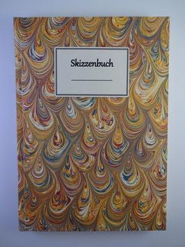 Skizzenbuch Marmor Gelb