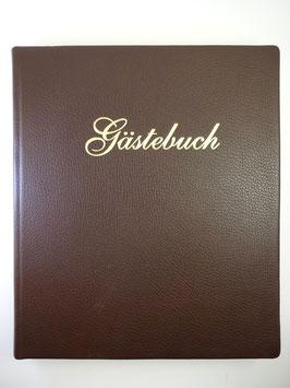 Ledergästebuch mit Goldprägung