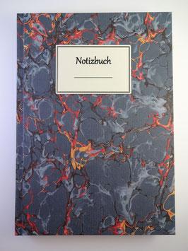 Notizbuch Marmor Blau 2