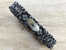 Halsband PEARL mit fester Schließe und Schmuckknopf