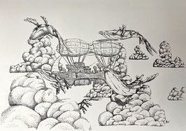 Sky Whales and Air Ship - DRUCK