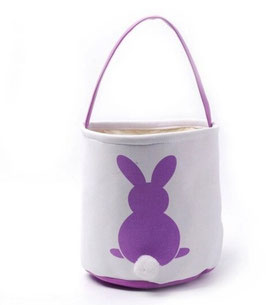 Personalized Canvas Easter Baskets with Pom Pom