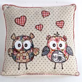 Cotton Decor Accent Pillow-Owls