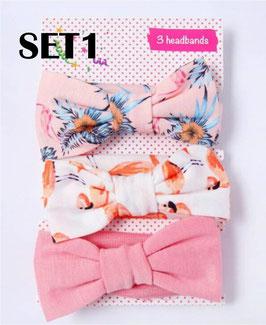 3pack Fabric Headbands