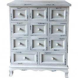 Wooden Eleven Drawer Storage Cabinet