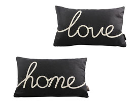 Embroidered Text Cushion