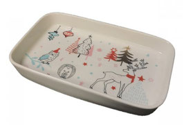 Winter/Holiday Porcelain Tray