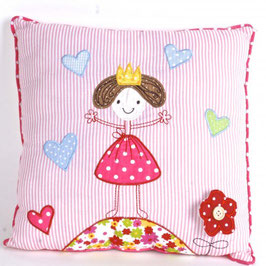 Cotton Decor Accent Pillow-Fairy with Hearts