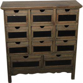 Wooden Craft Storage Dresser w/Chalkboard Drawers