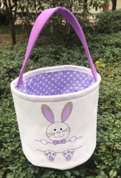 Personalized Canvas Easter Baskets with Name Plate