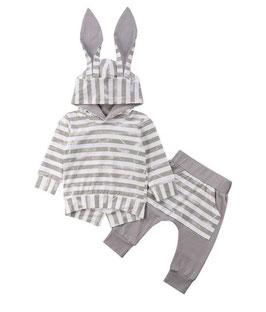 2pc Striped Grunge Hoodie & Pants Set