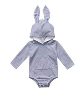Hoodie Romper with Bunny Ears