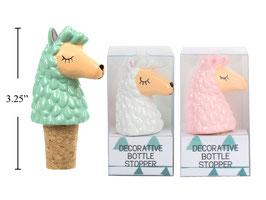 Set of 3 Assorted Playful Llama Decor Wine Bottle Cork Stopper