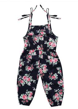 Floral Jumper with Tie Shoulder Straps