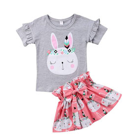 2pc T-Shirt & Skirt Set