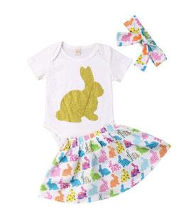 3pc Bunny Skirt Set