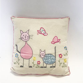 Cotton Decor Accent Pillow-Cats