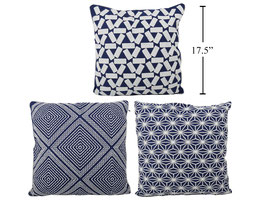 Indigo Embroidered Cushion