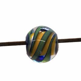 SWIRLS VERT/ORANGE BOULE