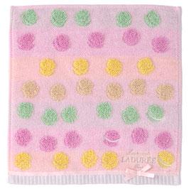LADUREE Macaron Hand Towel Pink