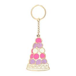 LADUREE  Macaron Pyramid Mirror Key Chain  LDR-KH23-C