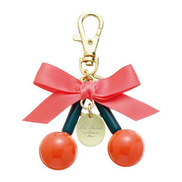 LADUREE Key Chain Key Ring Cerise Rouge Orange