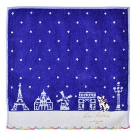 LADUREE Towel Handkerchief  Bon Voyage Blue dog