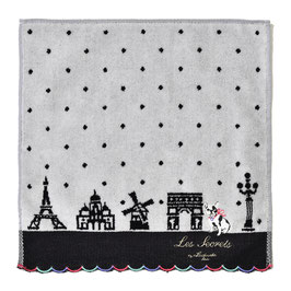 LADUREE Towel Handkerchief  Bon Voyage Gray dog