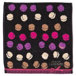 LADUREE Macaron Hand Towel Black