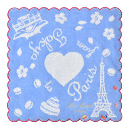 LADUREE From Paris to Tokyo Hand Towel Blue