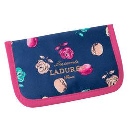 LADUREE Roses et macarons Pouch Navy 25301834B