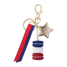 LADUREE Tricolor 10 Years Limited Key Chain Blue