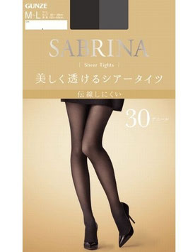 Gunze SABRINA Sheer Tights beautifully transparent 30 Denir