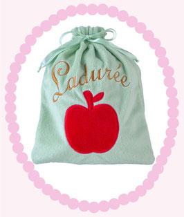 LADUREE Petite pomme Green Blanket