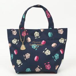 LADUREE Ladurée  Roses et macarons Tote Bag Navy S size