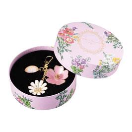 Laduree Paris Keychain Bag Charm Flure Flower Pink
