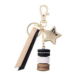 LADUREE Tricolor 10 Years Limited Key Chain Black