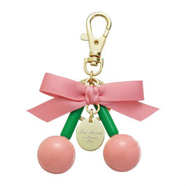 LADUREE Key Chain Key Ring Cerise Rouge Pink