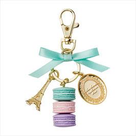 LADUREE Macaron Blue Key Chain Blue LDR-KH14-D